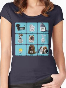 the secret life of pets & Freinds Women's Fitted Scoop T-Shirt
