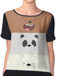 We Bare Bears Face Chiffon Top