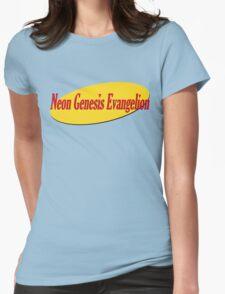Neon Seinfeld Evangelion Womens Fitted T-Shirt
