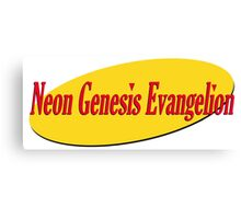 Neon Seinfeld Evangelion Canvas Print