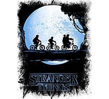 Stranger Things Black Photographic Print