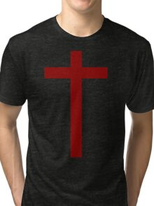 The Sign Of The Cross Tri-blend T-Shirt