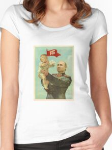 BABY TRUMP WITH PUTIN Women's Fitted Scoop T-Shirt