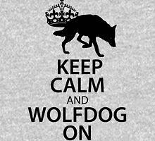 Keep Calm Wolfdog On Unisex T-Shirt