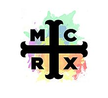 MCRX Rainbow Splatter Logo Photographic Print