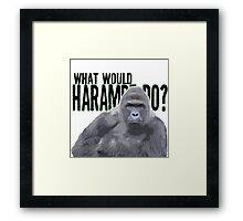 What would Harambe do? Framed Print