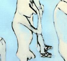 blue nude Sticker