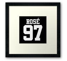 BLACKPINK Rose 97 (White) Framed Print