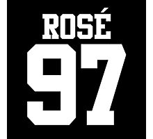 BLACKPINK Rose 97 (White) Photographic Print