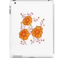 Yellow And Red Floral iPad Case/Skin