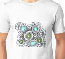 Turquoise and Lace Unisex T-Shirt