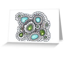 Turquoise and Lace Greeting Card