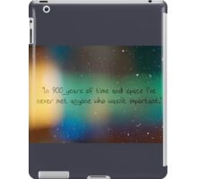 900 Years of Time and Space. iPad Case/Skin