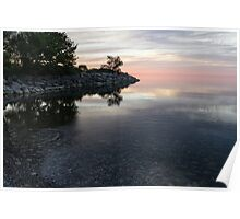 Soft Pinks and Purples - Silky Morning on Lake Ontario Poster