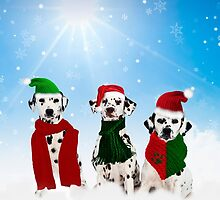 Holiday Snow Dogs!  by Doreen Erhardt