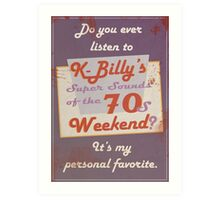 Reservoir Dogs: K-Billy Art Print