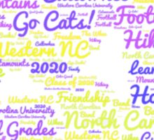 Western Carolina University Catamount Sticker