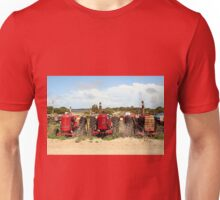 Old farm tractors machinery in country Unisex T-Shirt