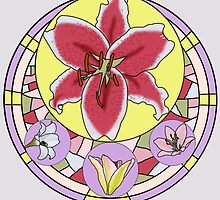 Lily stain glass by amgraphics