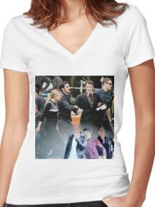Family Time Women's Fitted V-Neck T-Shirt
