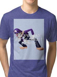 bad waluigi Tri-blend T-Shirt
