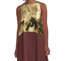 Azaleas in sepia  A-Line Dress