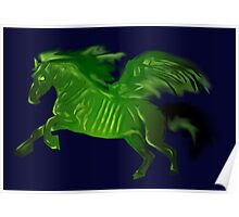 Green wing horse Poster