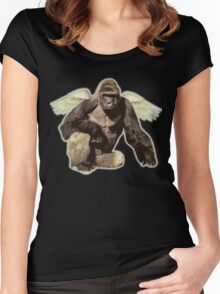 Harambe from above Women's Fitted Scoop T-Shirt