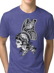 Tattoo Butterfly Girl Tri-blend T-Shirt