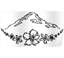 Floral Mountain Poster