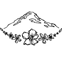 Floral Mountain Photographic Print