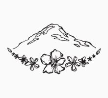 Floral Mountain Kids Tee
