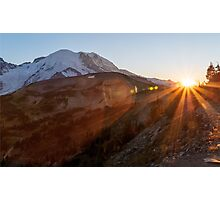 Mt. Rainier Sunset Photographic Print