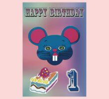 Mouse birthday One Piece - Short Sleeve