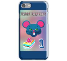 Mouse birthday iPhone Case/Skin