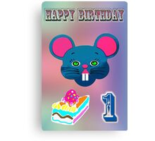 Mouse birthday Canvas Print