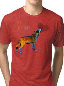 Wolf Heart Tri-blend T-Shirt