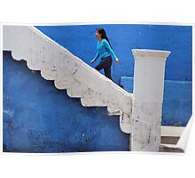 Woman in Blue Poster