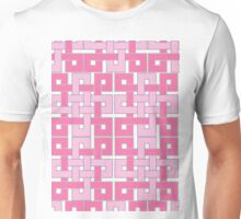 Celtic Squares in Pink Unisex T-Shirt