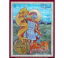 St. Florian Icon - Patron Saint of Firefighters. E mail me to find out how to have your logo or state flag on the shield! Photographic Print