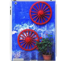 Geranium and red wheels on the blue wall iPad Case/Skin