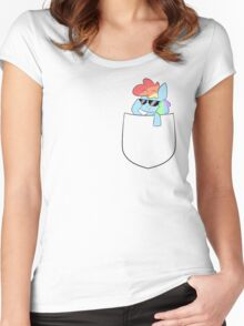 Dash in a Pocket Women's Fitted Scoop T-Shirt