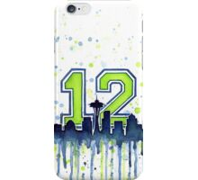 Seattle Seahawks 12th Man Fan Art iPhone Case/Skin