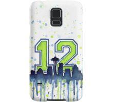 Seattle Seahawks 12th Man Fan Art Samsung Galaxy Case/Skin