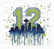 Seattle Seahawks 12th Man Fan Art T-Shirt