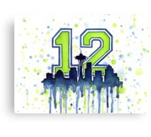 Seattle Seahawks 12th Man Fan Art Canvas Print