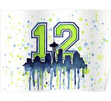 Seattle Seahawks 12th Man Fan Art Poster