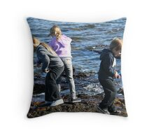 At the edge Throw Pillow