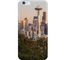 Seattle and the Mountain at Dusk iPhone Case/Skin