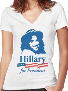 Hillary For President - Red White & Blue Women's Fitted V-Neck T-Shirt